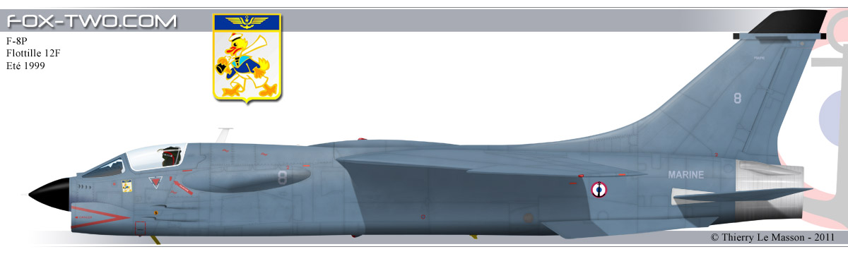 F-8P Crusader de la Flottille 12F en 1995.