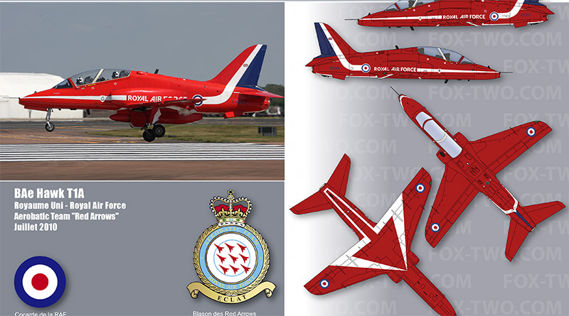Hawk T1A – XX260 – Red Arrows – Royaume-Uni – Royal Air Force – 2014