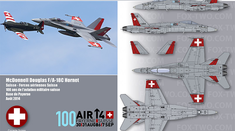 F/A-18C – J-5014 – Fliegerstaffel 17 – Suisse – Schweizer Luftwaffe – 2014