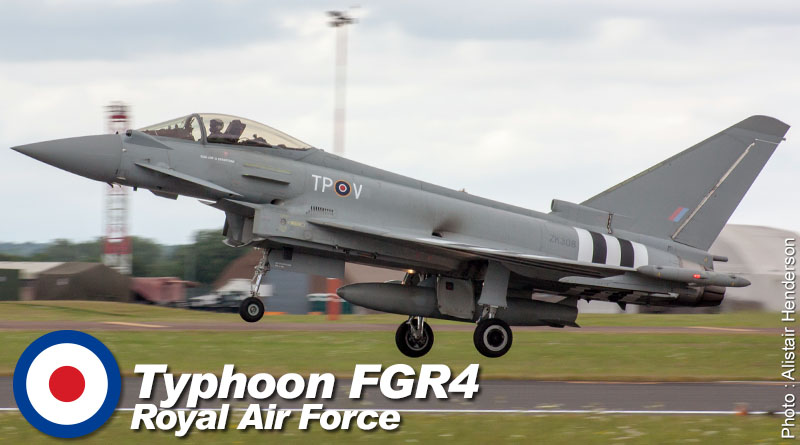 EF-2000 FGR4 – ZK308 – No. 29(R) Sqn- Royaume-Uni – Royal Air Force – 2014