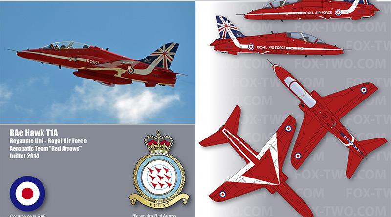 Hawk T1A – XX323 – Red Arrows – Royaume-Uni – Royal Air Force – 2014