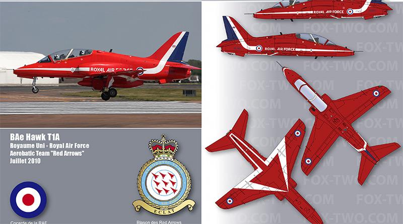 Hawk T1A – XX260 – Red Arrows – Royaume-Uni – Royal Air Force – 2014