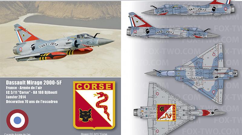Mirage 2000-5F – 188-ET – EC 3/11 – France – Armée de l'Air – 2014