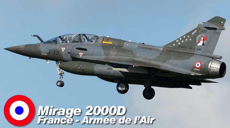 Mirage 2000D – 3-XD – ETD 2/7 – France – Armée de l'Air – 2016