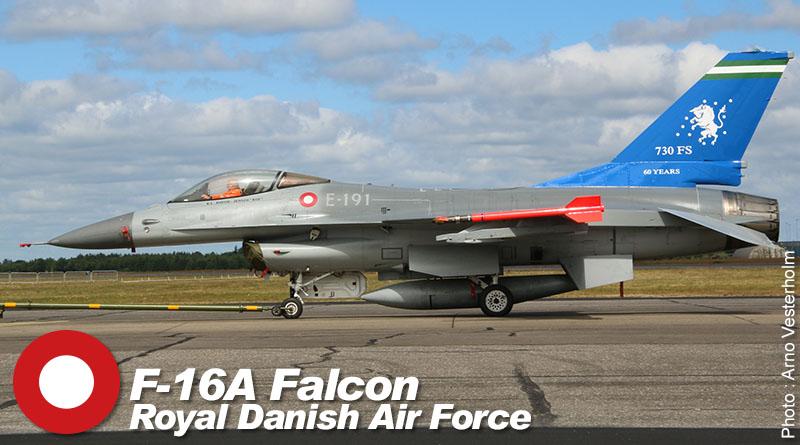 F-16A – E-191 – Esk 730 – Danemark – Flyvevåbnet – 2014