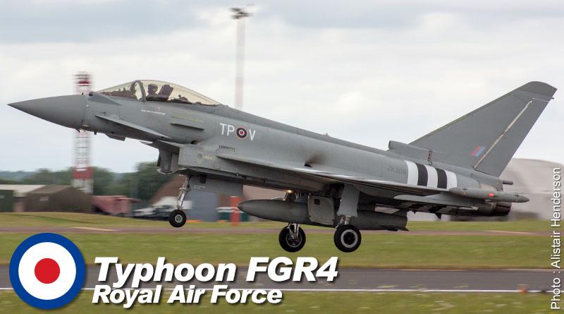 EF-2000 FGR4 – ZK308 – No. 29(R) Sqn- Royaume-Uni – Royal Air Force – 2014